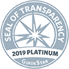 2019 GuideStar Platinum Seal of Transparency